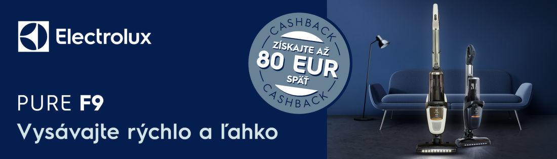 Cashback 80 € na vysávače Electrolux Pure F9