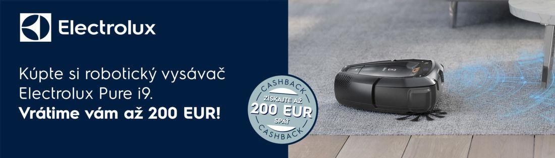 Cashback až do 200 € na robotické vysávače Electrolux