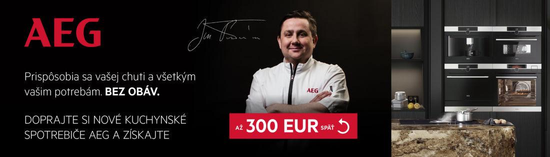 Cashback až do 300 € na kuchynské spotrebiče AEG