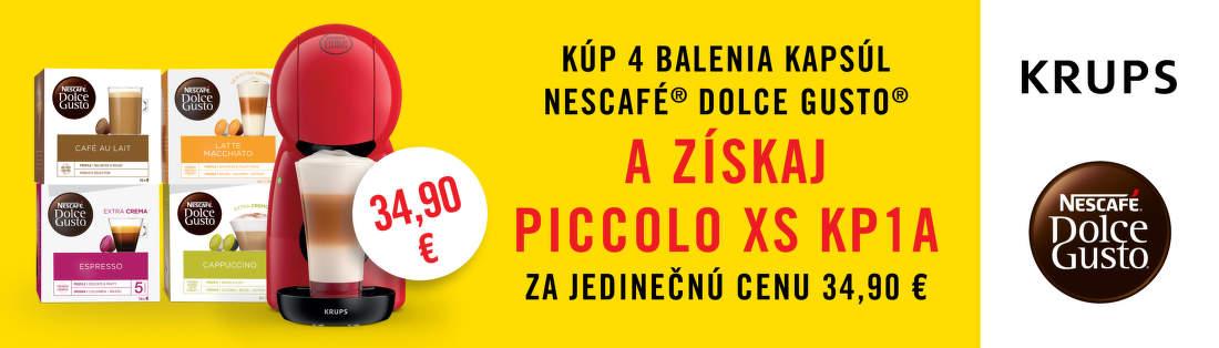 Akciová ponuka na kávovar Dolce Gusto Piccolo