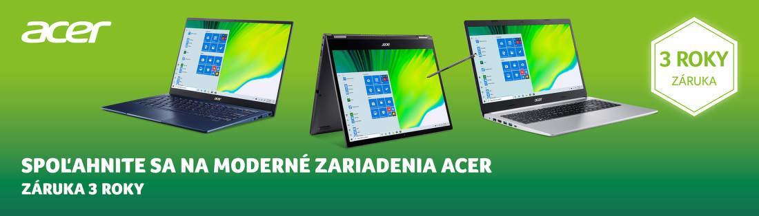 3-ročná záruka na notebooky Acer