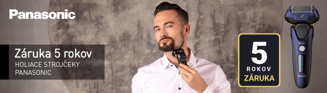 5-ročná záruka na holiace strojčeky Panasonic