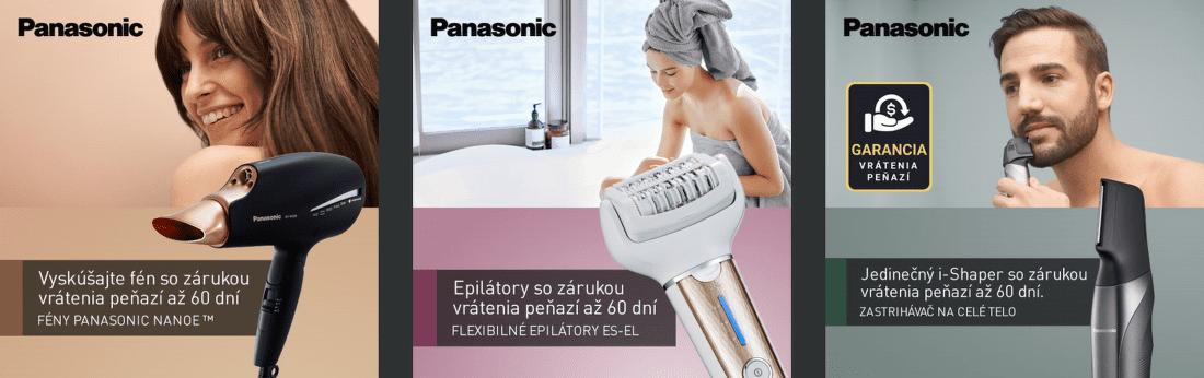 60 dní záruka vrátenia peňazí na fény, epilátory a zastrihávače Panasonic