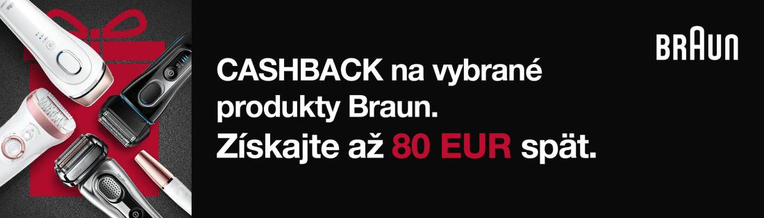 Cashback až do 80 € na vybrané produkty Braun