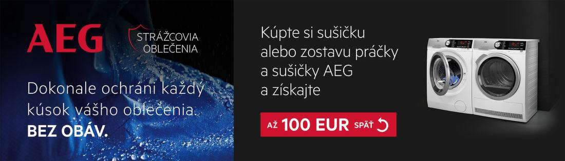 Cashback až do 100 € na sušičky AEG