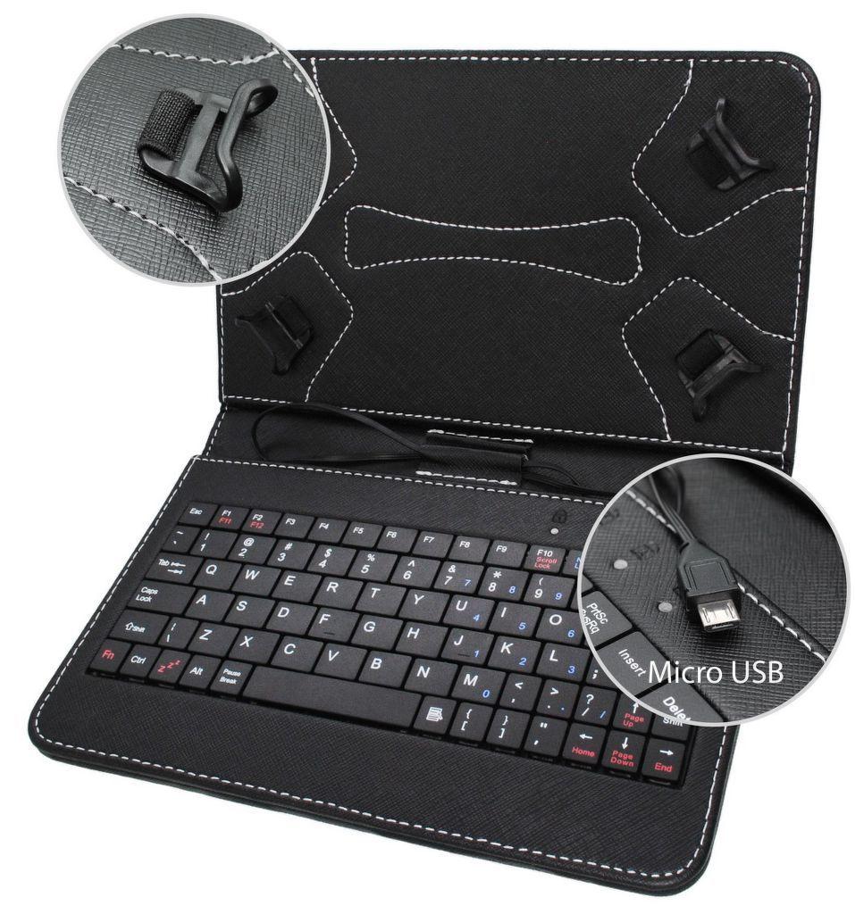 da9b6e84cfd67 MOBILNET UNI (7) čierne s Micro USB klávesnicou tab.puzdro | Nay.sk