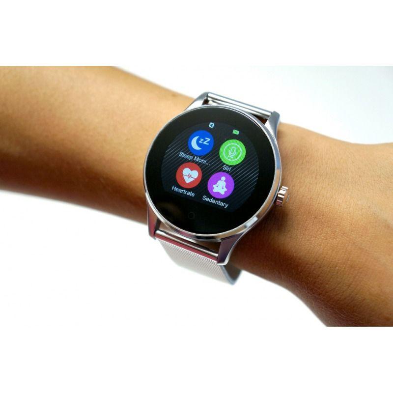 Carneo Manager strieborné smart hodinky  6d6ecd4a8f5