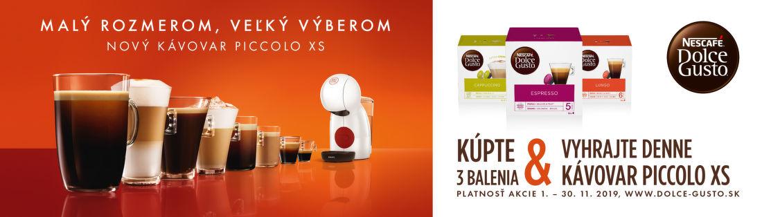 Vyhrajte kávovar za 3 balenia kapsúl NESCAFÉ Dolce Gusto