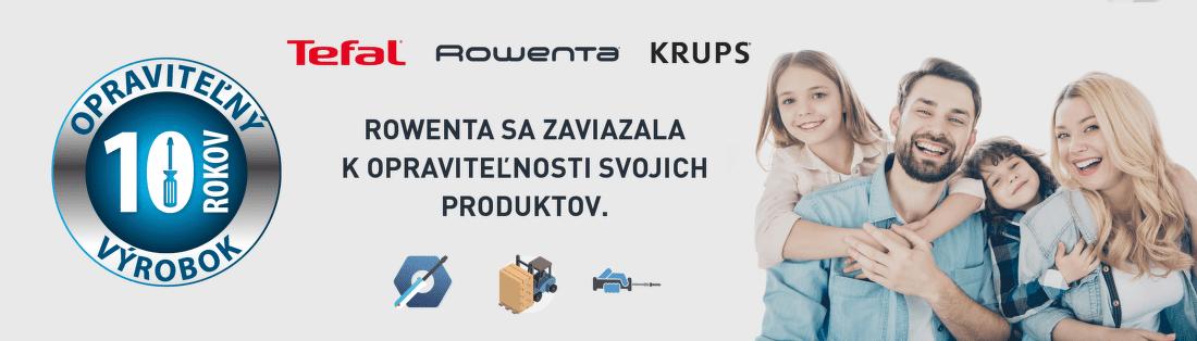 10-ročná opraviteľnosť produktov Rowenta, Tefal a Krups