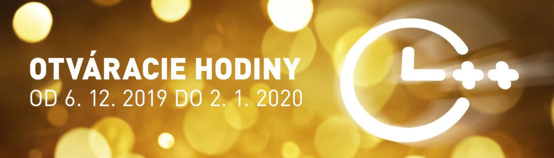 Otváracie hodiny do 2. 1. 2020