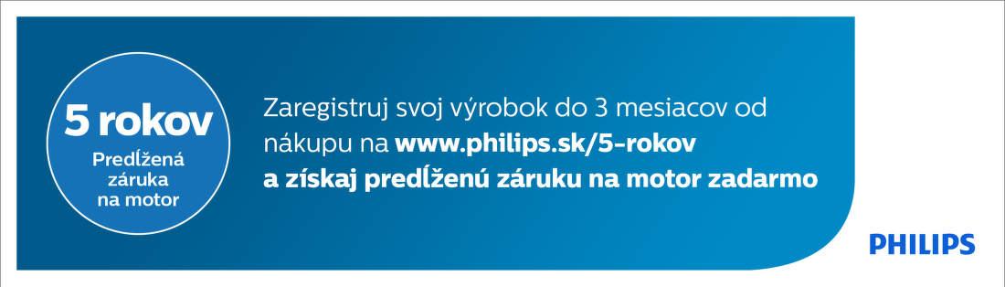 5-ročná záruka na motor vysávačov Philips