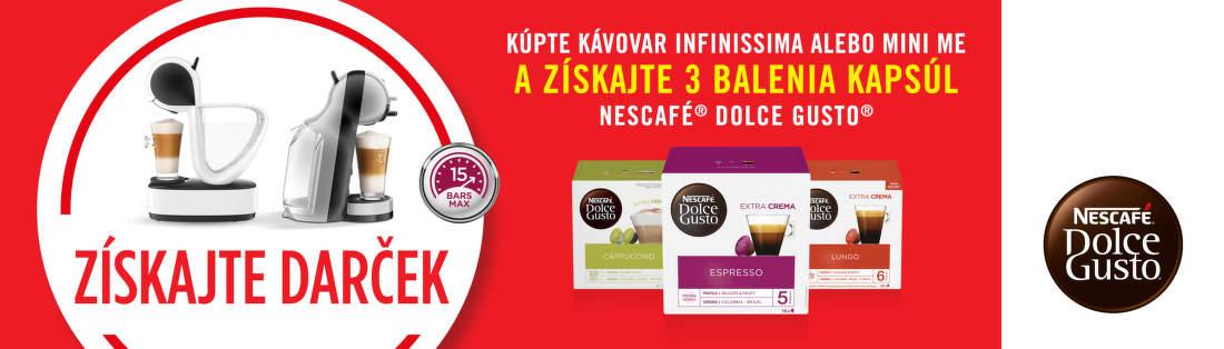 Darček ku kávovarom Nescafé Dolce Gusto
