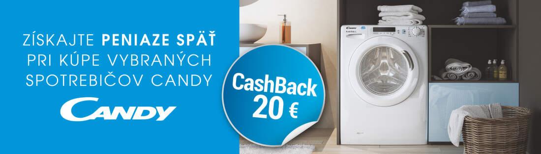 Cashback 20 € na spotrebiče Candy