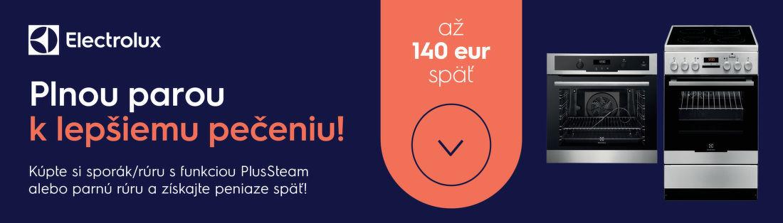 Cashback až do 140 € na parné sporáky a rúry Electrolux