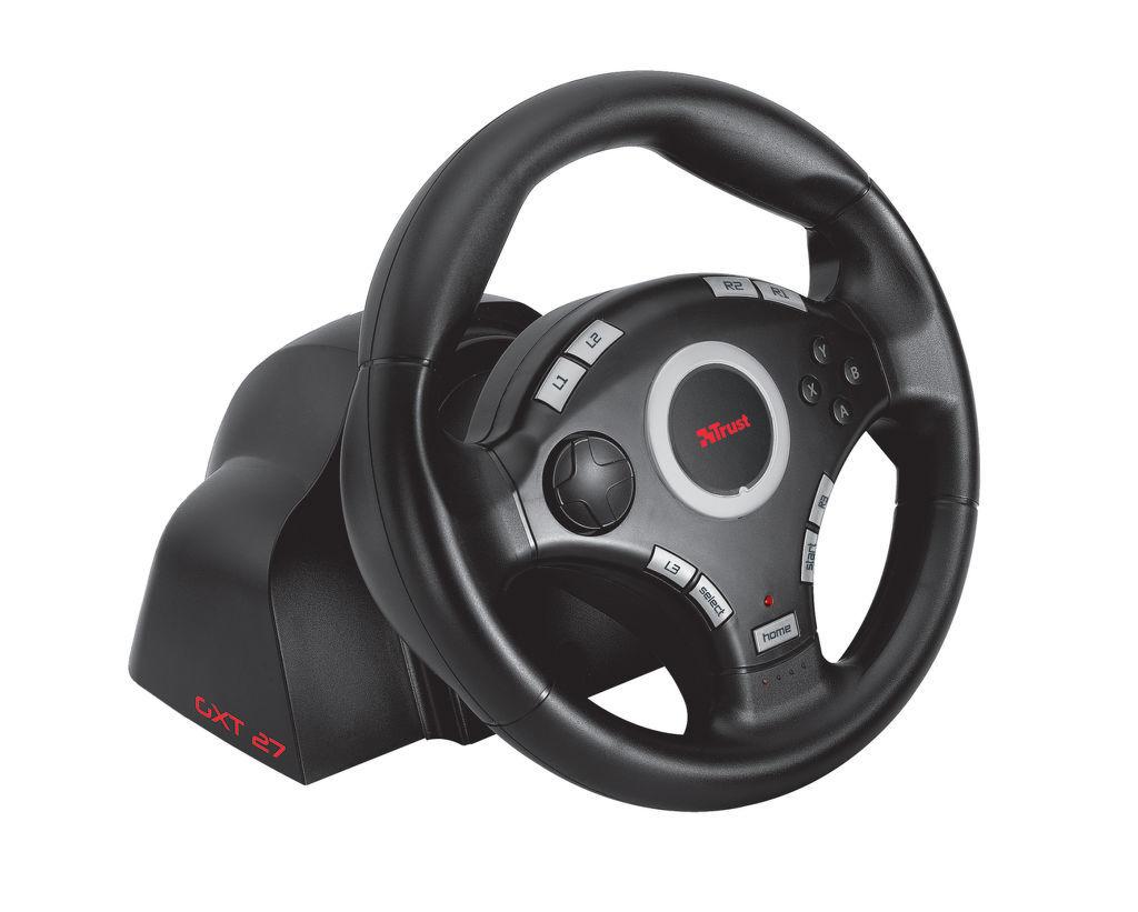 trust gxt 27 force vibration steering wheel volant pre ps3 pc. Black Bedroom Furniture Sets. Home Design Ideas