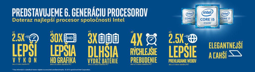 Vyberte si počítač so 6. generáciou procesorov Intel