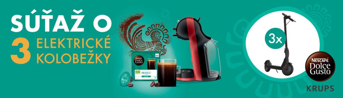 Súťažte s Nescafé Dolce Gusto o 3 elektrické kolobežky