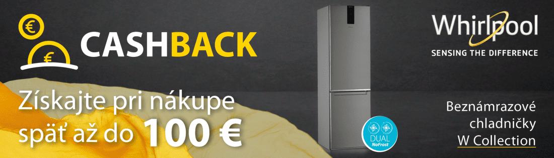 Cashback až do 100 € na chladničky Whirlpool
