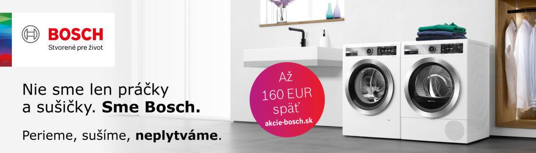 Cashback až do 160 € na práčky a sušičky Bosch