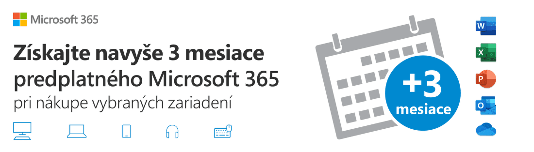 Microsoft 365 na 3 mesiace navyše