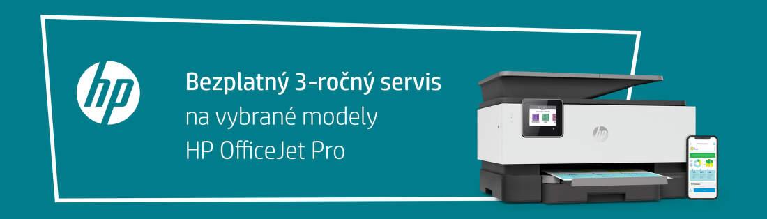 3-ročný servis na tlačiarne HP OfficeJet Pro