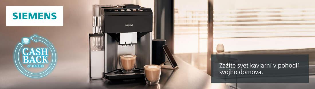 Cashback až do 100 € na kávovary Siemens