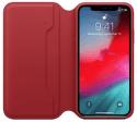 Apple kožené puzdro Folio pre iPhone XS, (PRODUCT)RED
