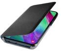 Samsung Wallet flipové puzdro pre Samsung Galaxy A40, čierna