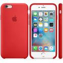 Apple silikónový kryt pre iPhone 6S, červené