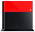 PS4 farebný kryt na konzolu (červený)