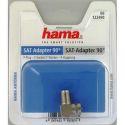 Hama 122490 - SAT redukcia, pravouhlá, F zásuvka - F vidlica