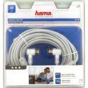 Hama 122421 Anténny koax. kábel, kolmé konektory, 95 dB, 10m