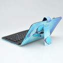 """Mobilnet UNI 7"""" modré tabletové puzdro klávesnica"""