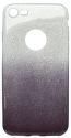 Mobilnet gumené trblietavé puzdro iPhone 7 tmavofialové