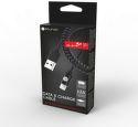 Mobilnet Nabíjací kábel Apple Lightning MFI STURDO 2A točený 1,5 m čierny