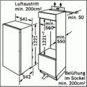 Bosch KIL24V21FF, vstavana chladnicka