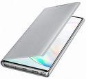 Samsung LED View knižkové puzdro pre Samsung Galaxy Note10+, strieborná