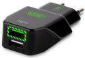 PURO cestovná rychlonabíjačka, 2x USB, 3,4 A, čierna