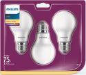 LED Philips žiarovka 3-balenie, 10,5W, E27, teplá biela