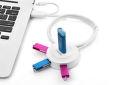 Ugreen 20271 (biely) - USB 2.0 4portový HUB s OTG