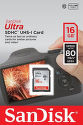 SanDisk Ultra SDHC 16 GB UHS-I Class 10 80 MB/s