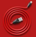 Remax AA-1139 Alien Lightning kábel 1m, čierno červený