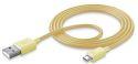 CellularLine Style&Color Dátový kábel s konektorom MicroUSB (žltý)