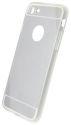 Mobilnet zrkadlové gumené puzdro iPhone 7 strieborné