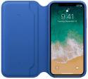 Apple kožené puzdro Folio pre iPhone X, elektro modré