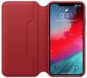 Apple kožené puzdro Folio pre iPhone XS Max, (PRODUCT)RED