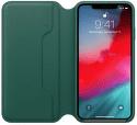 Apple kožené puzdro Folio pre iPhone XS Max, píniovo zelená