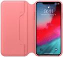 Apple kožené puzdro Folio pre iPhone XS Max, pivonkovo ružová
