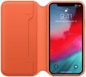 Apple kožené puzdro Folio pre Apple iPhone Xs, oranžové