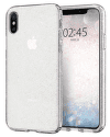 Spigen Liquid Crystal Glitter puzdro pre Apple iPhone X a Xs, transparentná